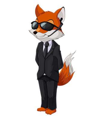 Serp-fox enlaces curados mascota